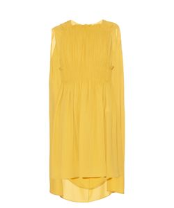 Valentino | Cape-Back Silk-Georgette Dress