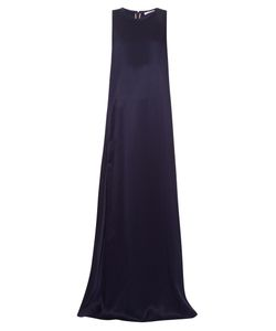 Chloe | Sleeveless Silk-Satin Blend Gown