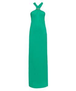 Lanvin | Crystal-Embellished Stretch-Crepe Gown