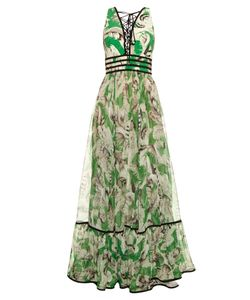 Roberto Cavalli | Tropical Print Silk Gown