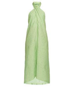 Natasha Zinko | Jacquard Cotton-Blend Halterneck Dress