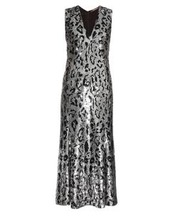 Roberto Cavalli | Leopard-Print Sequin-Embellished Midi Gown