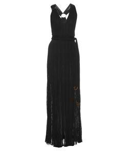 Roberto Cavalli | V-Neck Crinkle-Knit Gown