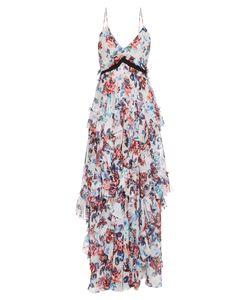 Mary Katrantzou | Caliente Solar Print Ruffled Silk Dress