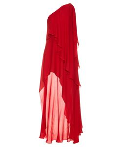 Elie Saab | Asymmetric Silk-Georgette Gown