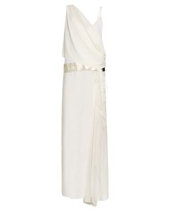 LOYD/FORD | Chiffon-Overlay Silk Maxi Dress