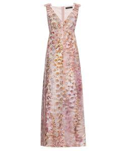 Giles | Foxglove-Print Crepe Gown