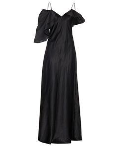 Saint Laurent | Ruffle-Trimmed Silk-Satin Gown