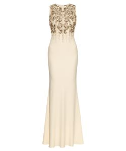 Alexander McQueen | Chain-Embellished Crepe Gown