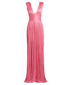 Maria Lucia Hohan | Kadija Silk-Tulle Pleated Gown