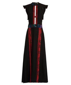 Burberry Prorsum | Contrast-Panel Open-Back Dress
