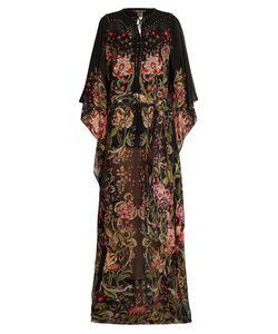 Roberto Cavalli | Galaxy Garden-Print Silk-Georgette Gown