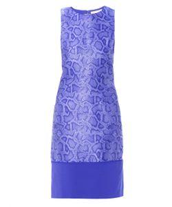 Richard Nicoll   Snake-Effect Jacquard Sleeveless Dress