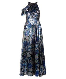 Christopher Kane | -Print Lamé Draped Gown
