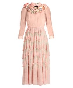 Gucci | -Embellished Silk-Blend Plumetis Gown