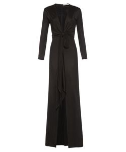 Givenchy | Deep-Neck Front-Slit Gown