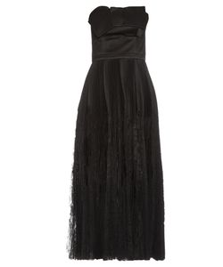 Alexander McQueen | Strapless Fan-Pleated Silk Dress