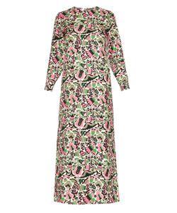 LA DOUBLEJ EDITIONS | Tulipani Long-Sleeved Silk Maxi Dress