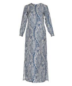 LA DOUBLEJ EDITIONS | Bandana Long-Sleeved Silk Maxi Dress