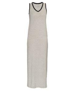 ATM | Striped V-Neck Jersey Dress
