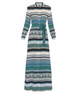 Diane Von Furstenberg | Amina Silk-Blend Maxi Shirtdress