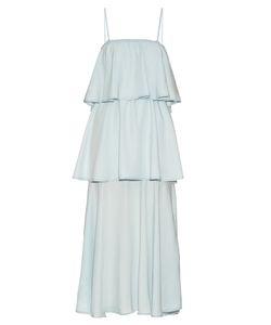 RAEY   Tiered Denim Midi Dress