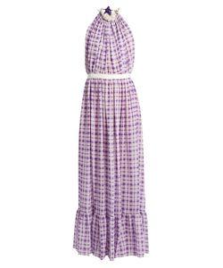 Emilio De La Morena | Opaline Halterneck Sleeveless Silk Gown