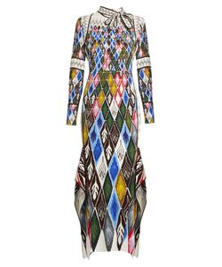Peter Pilotto | Argyle-Print Long-Sleeved Maxi Dress
