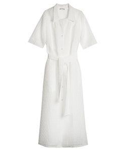 RAEY   Sheer Gingham Shirtdress