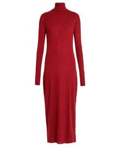 RAEY   Roll-Neck Ribbed Fine-Knit Cashmere Dress