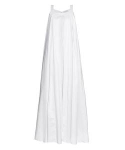 OSMAN | Maysan Pleated Cotton Maxi Dress