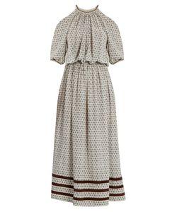 TALITHA | Leela Block-Print Silk-Crepe Dress
