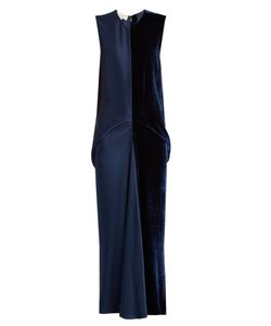 Stella Mccartney | Slit-Back Velvet And Satin Dress