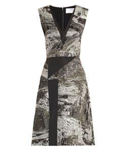 Prabal Gurung | Lurex-Jacquard V-Neck Dress