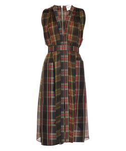 Maison Rabih Kayrouz | Tartan Silk-Chiffon Midi Dress