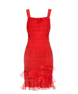 Oscar de la Renta | Guipure-Lace Sleeveless Dress