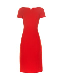 Oscar de la Renta | Sweetheart-Neck Crepe Dress