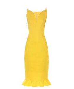 Oscar de la Renta | Ruffle-Trimmed Sleeveless Dress