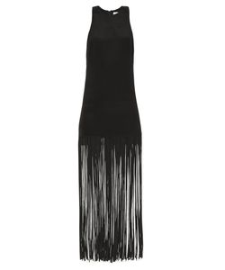 RAEY | Fringed Silk Racer-Back Dress