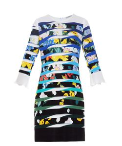 Mary Katrantzou | Amellus Techno Flowers Stripe-Print Dress