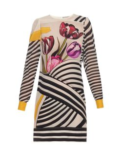 Mary Katrantzou | Christie Tulip Stripe-Print Silk-Chiffon Dress