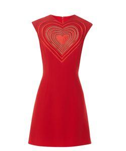 Christopher Kane | Love Heart Crepe Mini Dress