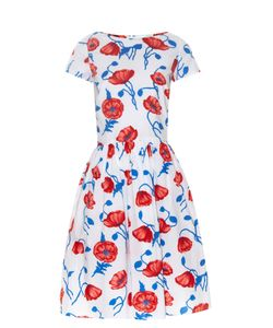 Oscar de la Renta | Poppy-Print Cotton Dress