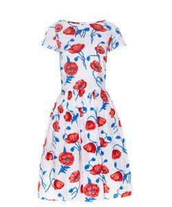 Oscar de la Renta | Poppy-Print Cotton Dress