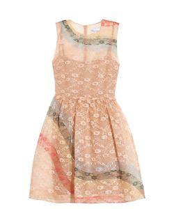 Red Valentino   Rainbow Lace Sleeveless Dress