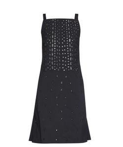 OSMAN | Embellished Square-Neck Dress