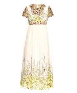 Giambattista Valli | -Embroidered Silk-Chiffon Midi Dress