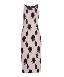 Balenciaga | -Motif Silk-Cloqué Midi Dress