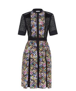 Mary Katrantzou | Caule Print Broderie-Anglaise Dress