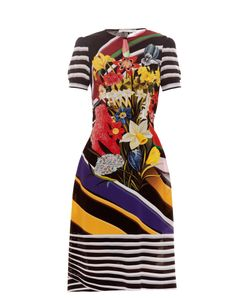 Mary Katrantzou | Vitta Stripe Bouquet-Print Dress